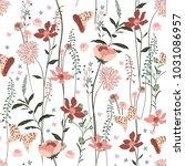 sweet  gentel blooming pastel... | Shutterstock .eps vector #1031086957