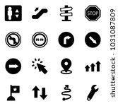 solid vector icon set  ... | Shutterstock .eps vector #1031087809