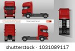 truck vector mock up. isolated... | Shutterstock .eps vector #1031089117