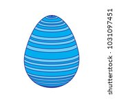 stripes decorative easter egg...
