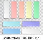 paper sticky note isolated. set ... | Shutterstock .eps vector #1031098414
