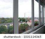 the city outdoor factory... | Shutterstock . vector #1031114365