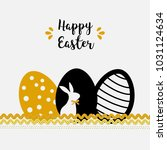 holiday easter scrap card with... | Shutterstock .eps vector #1031124634