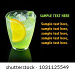 green alcohol cocktail with... | Shutterstock . vector #1031125549