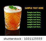 orange alcohol cocktail with... | Shutterstock . vector #1031125555