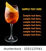orange alcohol cocktail with... | Shutterstock . vector #1031125561