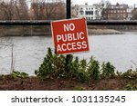 no public access on the thames... | Shutterstock . vector #1031135245