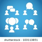 sillhiuettes of talking people... | Shutterstock .eps vector #103113851