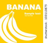Fruit Label. Banana. Backgroun...
