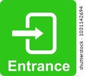 entrance vector icon for web  | Shutterstock .eps vector #1031142694