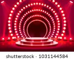 stage podium with lighting ... | Shutterstock .eps vector #1031144584