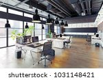 modern cozy loft office... | Shutterstock . vector #1031148421