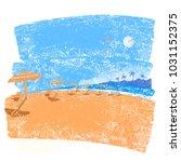 tropical beach seascape...   Shutterstock .eps vector #1031152375