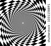 psychedelic tunnel  chessboard... | Shutterstock .eps vector #1031158891