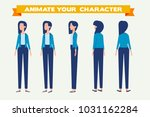 young  woman for animation.... | Shutterstock .eps vector #1031162284