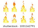 set of isolated fire in flat...   Shutterstock .eps vector #1031162791