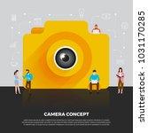 flat design concept camera...