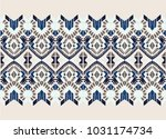 ikat geometric folklore... | Shutterstock .eps vector #1031174734