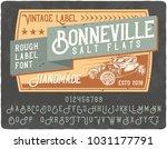 original vintage label typeface ... | Shutterstock .eps vector #1031177791