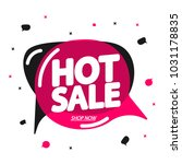 hot sale  speech bubble banner  ... | Shutterstock .eps vector #1031178835