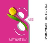 greeting card for 8 march   Shutterstock .eps vector #1031179561