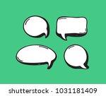 hand drawn set of speech... | Shutterstock .eps vector #1031181409