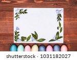 a festive easter composition.... | Shutterstock . vector #1031182027