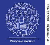 personal hygiene banner with... | Shutterstock .eps vector #1031187517