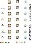 set of colored icons showing... | Shutterstock .eps vector #1031188021