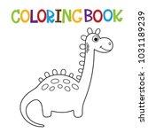 cute dino coloring book.   Shutterstock .eps vector #1031189239