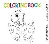 cute dino coloring book.   Shutterstock .eps vector #1031189245