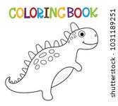 cute dino coloring book.   Shutterstock .eps vector #1031189251