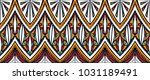 geometric folklore ornament.... | Shutterstock .eps vector #1031189491