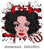 devil woman | Shutterstock .eps vector #103119011