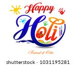 colorful happy holi artistic...