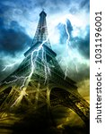 Thunderstorm In Paris. Eiffel...