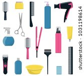 tools and cosmetic products for ... | Shutterstock .eps vector #1031198614