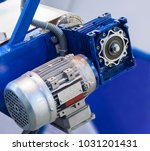 electric motor with gear... | Shutterstock . vector #1031201431