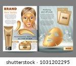 cosmetic magazine template ... | Shutterstock .eps vector #1031202295