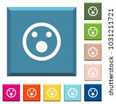 shocked emoticon white icons on ... | Shutterstock .eps vector #1031211721