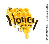 honey vintage label isolated on ... | Shutterstock .eps vector #1031212387