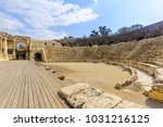 view of the roman theater in... | Shutterstock . vector #1031216125