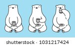 bear polar bear vector drink... | Shutterstock .eps vector #1031217424