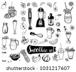 set of hand drawn sketch style... | Shutterstock .eps vector #1031217607