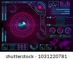 futuristic radar atom user...   Shutterstock .eps vector #1031220781