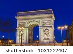 the triumphal arch is one of... | Shutterstock . vector #1031222407