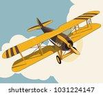 yellow plane flying over sky...