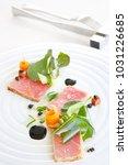 exquisite salmon dish  creative ...   Shutterstock . vector #1031226685