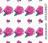 embroidery floral patches... | Shutterstock .eps vector #1031228827