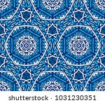 ornamental geometric abstract... | Shutterstock . vector #1031230351